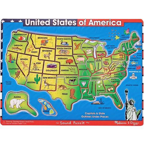 Melissa Doug United States Of America Map Puzzle Puzzles