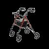 Set N Go Wide Height Adjustable Rollator (Burgundy)