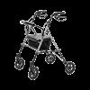Set N Go Wide Height Adjustable Rollator (Silver)