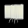 Winco Privess Basic 3 Panel Steel Frame Folding Privacy Screen