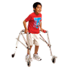 Kaye Wide Posture Control Four Wheel Walker With Front Swivel Wheel For Youth
