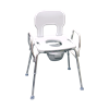 Eagle Health Bariatric Commode With Raised Toilet Seat and Shower Chair