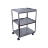 Ideal Standard Duty Three Shelf Mobile Stainless Utility Cart