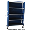 MJM International Four Shelf Linen Cart