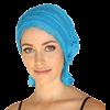 Chemo Beanies Claudia Peacock Blue Ruffle