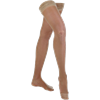 Venosan Legline Open Toe Thigh Length 15-20mmHg Sheer Stockings With Lace Top