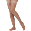 Juzo Sheer 20-30 mmHg Thigh High Compression Stockings with Silicone Border
