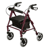 Cardinal Health Contour Soft Seat Aluminium Six Inches Four Wheel Rollator