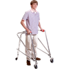 Kaye Posture Control Four Wheel Large Walker With Installed Silent Rear Wheel