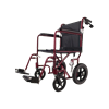 Medline Basic Aluminum Transport Chair With 12 Inch Wheels
