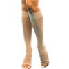 Open Toe Below Knee Compression Stockings
