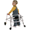Kaye PostureRest Four Wheel Walker With Seat And Installed Silent Rear Wheel For Small Children