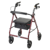 Drive Aluminum Rollator With Fold Up and Removable Back Support and Casters