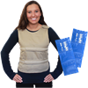 Polar Kool Max Adjustable Poncho Cooling Vest with Long Kool Max Pack Strips