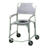 Tubular Fabricators Shower Chair and Commode with Five Inches Solid Stem Casters