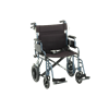 Nova Medical 22 Inches Transport Chair With Hand Brakes And Swing Away Footrests