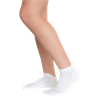 15-20 mmHg Unisex Compression Socks With Padded Sole (White)