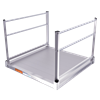 EZ Access Pathway Aluminum Modular Platform With Four Feet Handrail