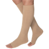 BSN Jobst Opaque Open Toe Knee High 20-30 mmHg Firm Compression Stockings