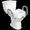 Drive Premium Plastic Elevated Regular or Elongated Toilet Seat With Lock