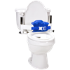 Columbia Lo-Back Toilet Support System with Padded Back