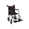 Nova Medical 19 Inches Lightweight Transport Chair With Hand Brakes And Swing Away Footrests