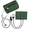 Dual Head Stethoscope Combination Kit (Hunter Green)