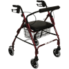 ITA-MED Four Wheel Aluminum Rollator With Loop Brakes
