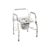 Drive Knock Down Deluxe Steel Drop Arm Commode with Padded Seat