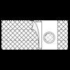 Nu-Hope Original Flat Panel 6 Inches (15.2cm) Wide Left Sided Cool Comfort Elastic Support Belt