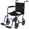 Medline Basic Aluminum Transport Chair With Eight Inch Wheels