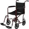 Transport Chair With Eight Inch Wheels (Red