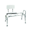Mabis DMI Heavy-Duty Sliding Transfer Bench with Cut-Out Seat
