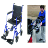 Mabis DMI 19 Inches Ultra Lightweight Aluminum Transport Chair