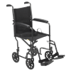 Drive Steel Transport Chair With Fixed Full Arms