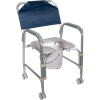 Drive Knock Down Aluminum Shower And Commode Chair With Casters