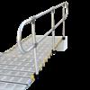 Roll-A-Ramp Removable Aluminum Handrail Kit