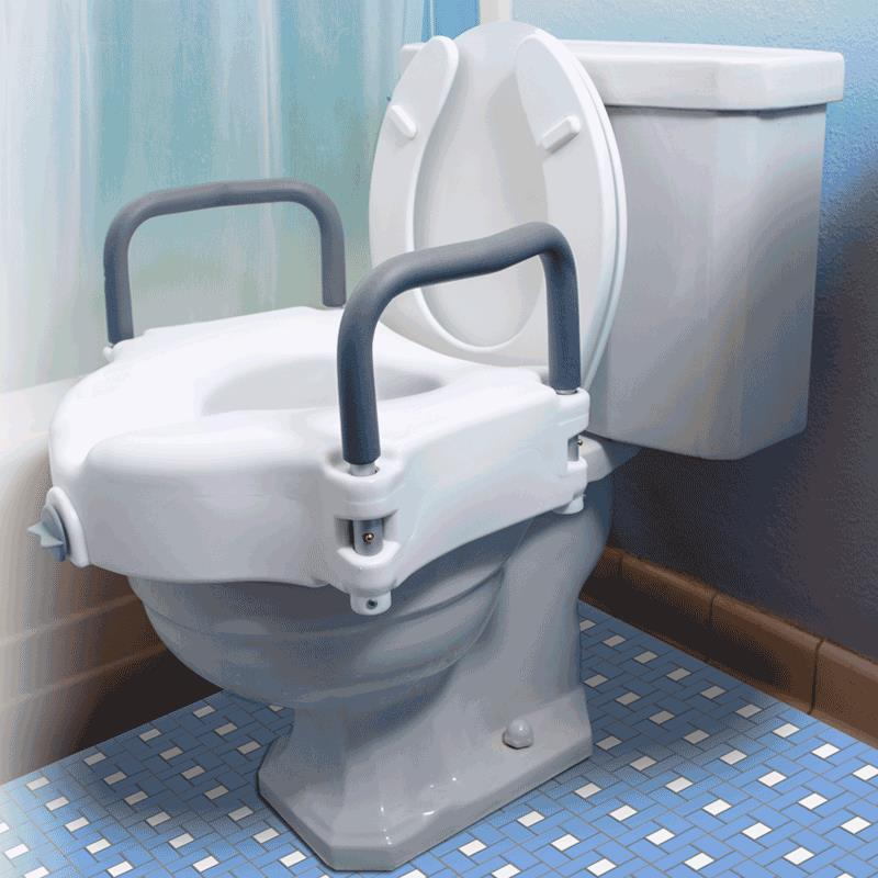 Essential Medical Locking Molded Raised Toilet Seat