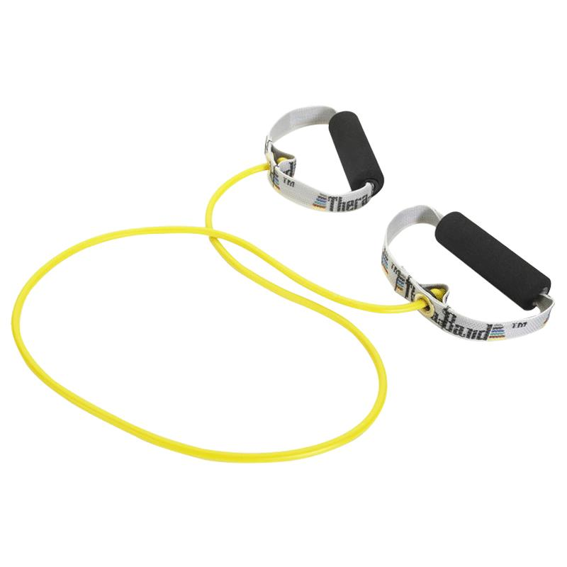 Fitness Bands With Handles: TheraBand Resistance Tubing With Soft Grip Handles