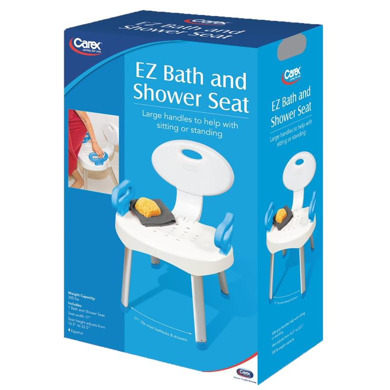 Carex EZ Bath and Shower Chair with Handles | Shower Chairs