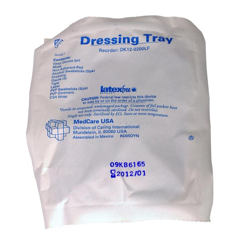 Medline Latex Free Dressing Change Tray with Chloraprep - DK12-0200LF