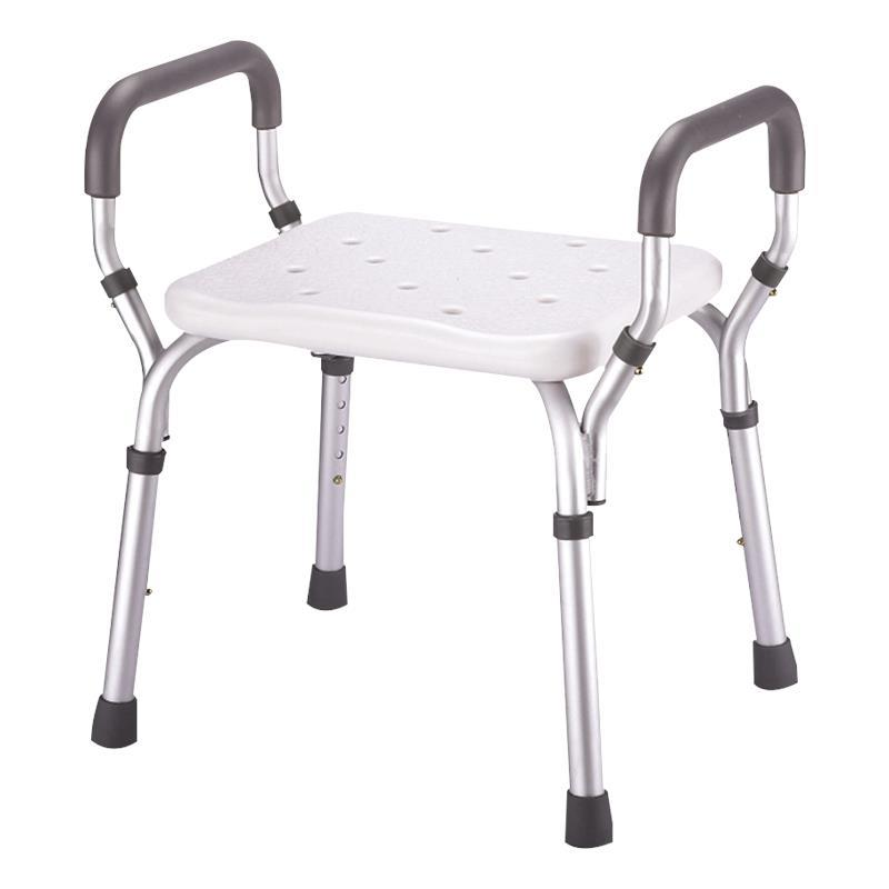 Essential Medical Deluxe Adjustable Molded Shower Bench With Arms ...