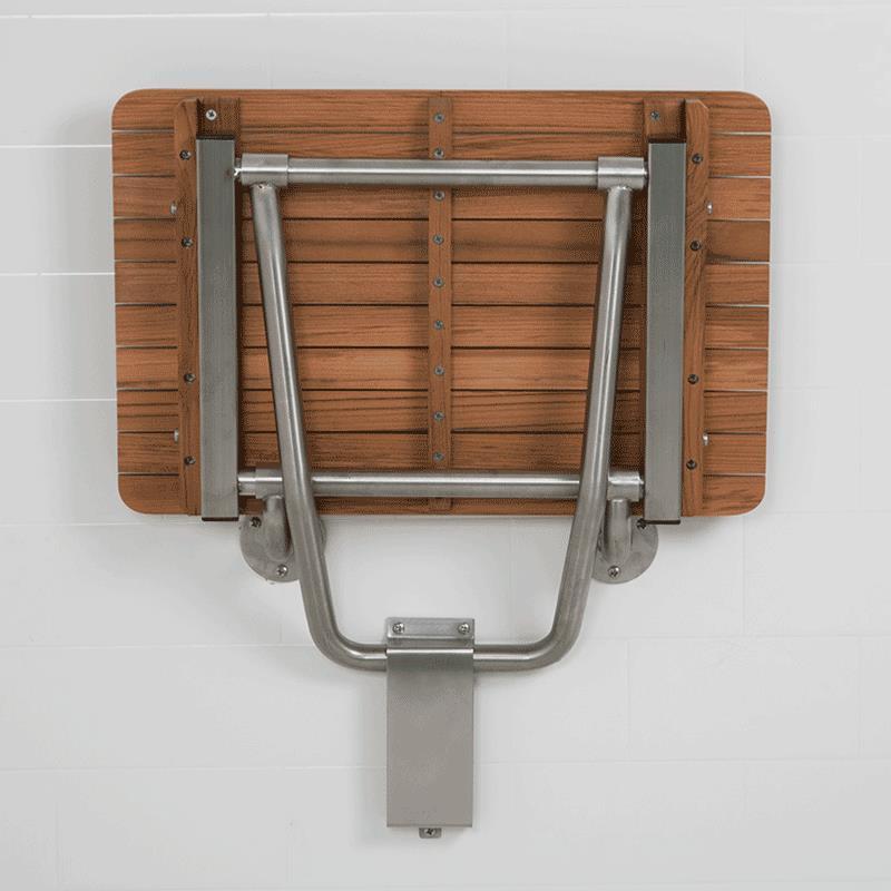 Teakworks4u ADA Wall Mount Shower Seat | Shower Chairs