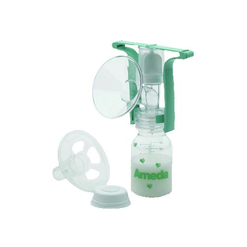 Ameda One Handed Manual Breast Pump With Flexishield Manual Guide