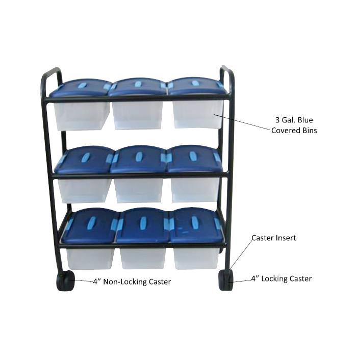 Merry Cart With Nine Bins Replacement Accessories Medical Carts