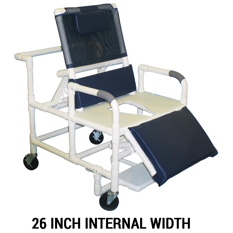 MJM International Bariatric Reclining Shower Chair with Full Support ...
