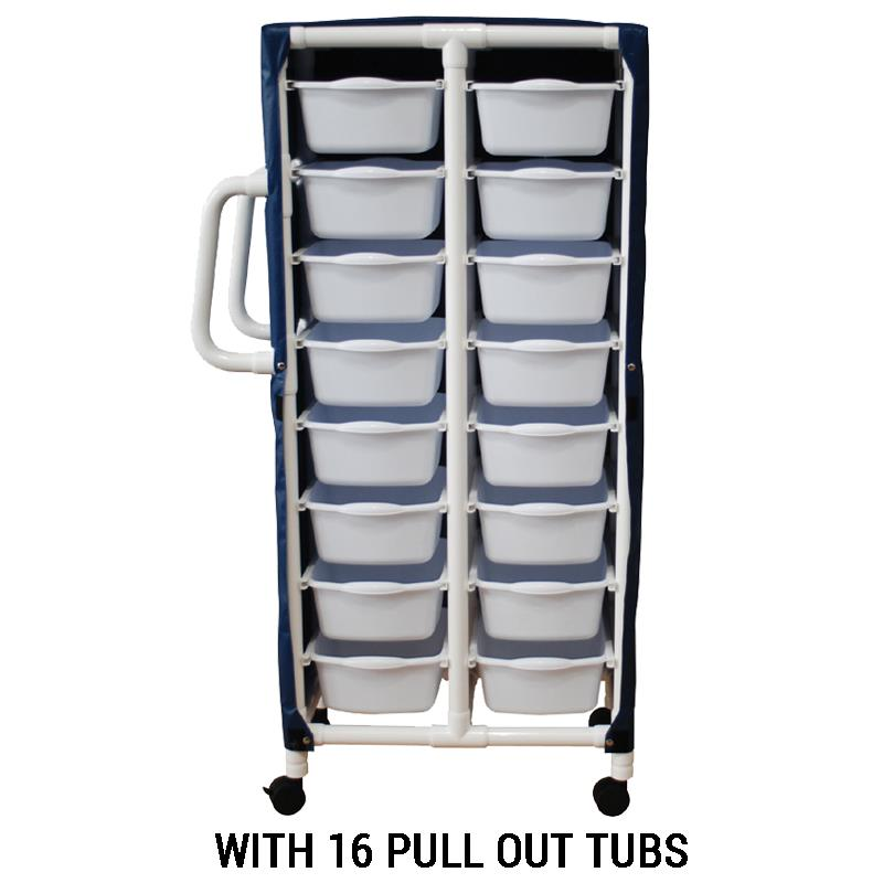 MJM International Specialty Cart with Pull Out Tubs | Medical Cart
