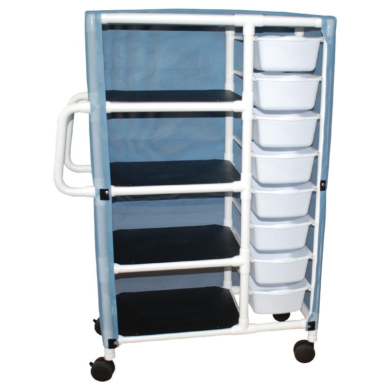 MJM International Combo Cart with Shelves and Pull Out Tubs ...