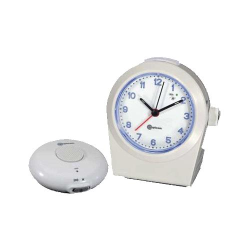 Amplicom TCL 100 Analog Alarm Clock with Wireless Bed Shaker