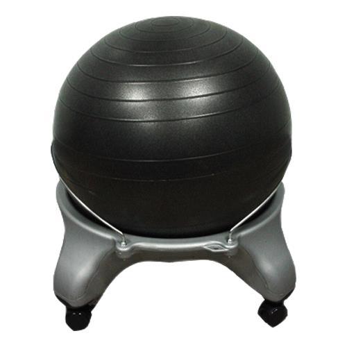 Balance Ball Stool: CanDo Plastic Exercise Ball Stool